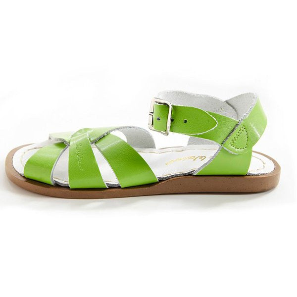 salt water sandals children's lime