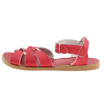 salt water sandals children's red
