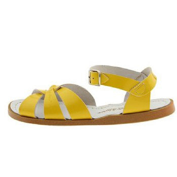 salt water sandals children's shiny yellow