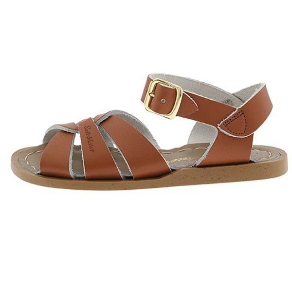 salt water sandals children's tan