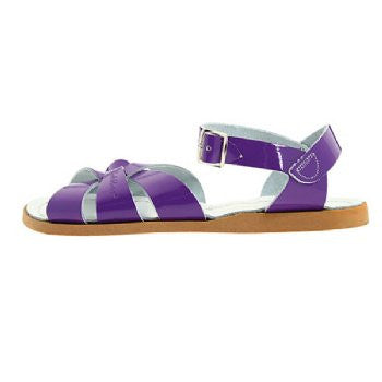 salt water sandals children's shiny violet