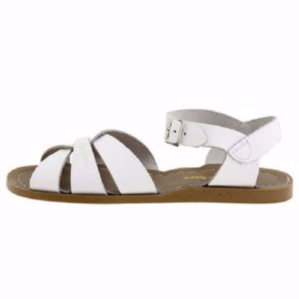 salt water sandals children's white