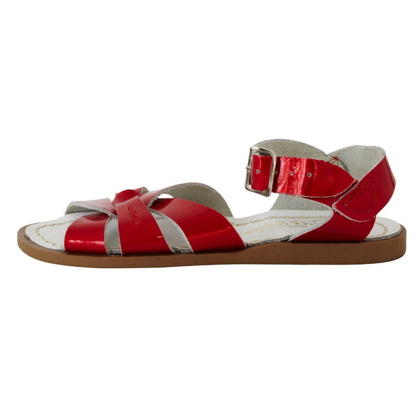 salt water sandals children's candy red