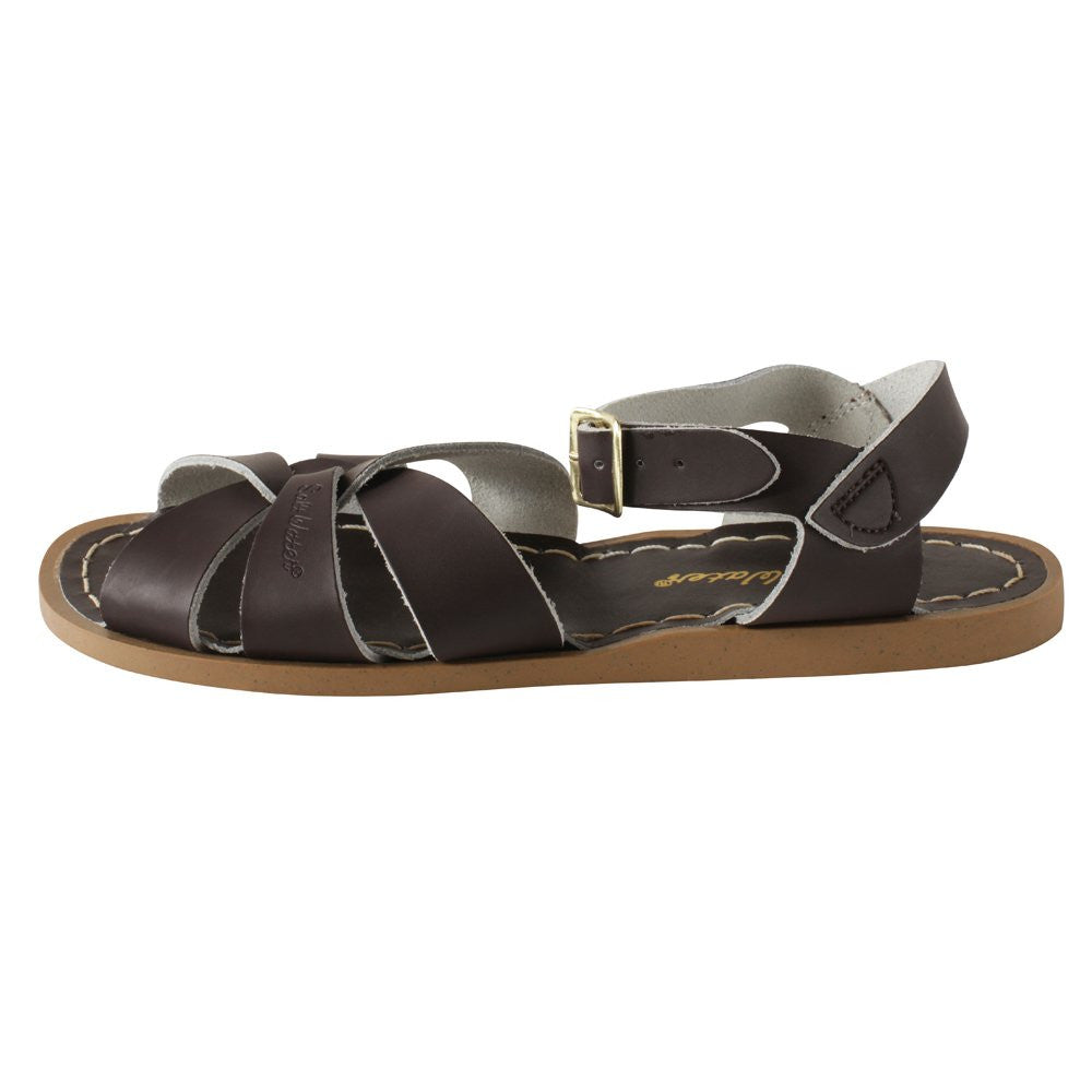 salt water sandals children's brown