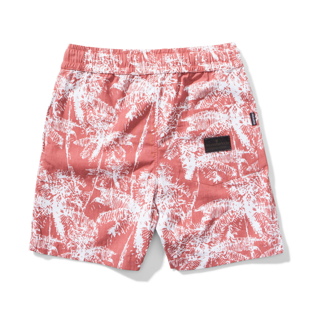 Munster kids -Shady Walk Short with Palm Print