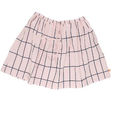 tiny cottons big grid woven skirt