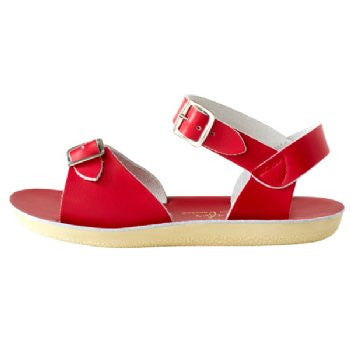 salt water sandals sun san surfer red