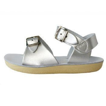 salt water sandals sun san surfer silver