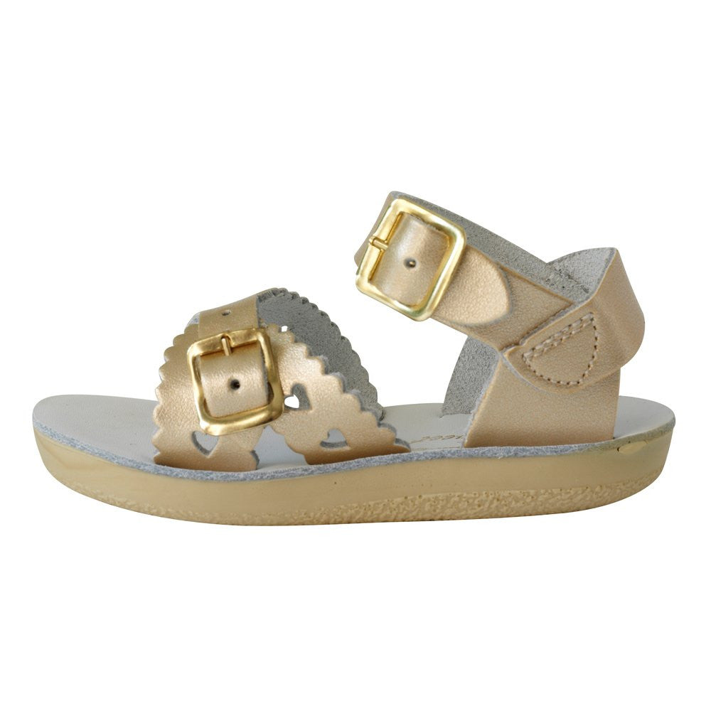 salt water sandals sun san sweetheart gold