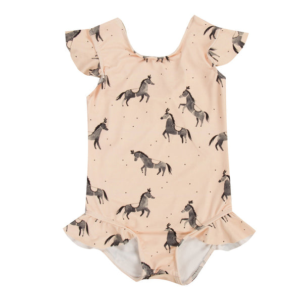 rylee & cru circus horses onepiece swimsuit
