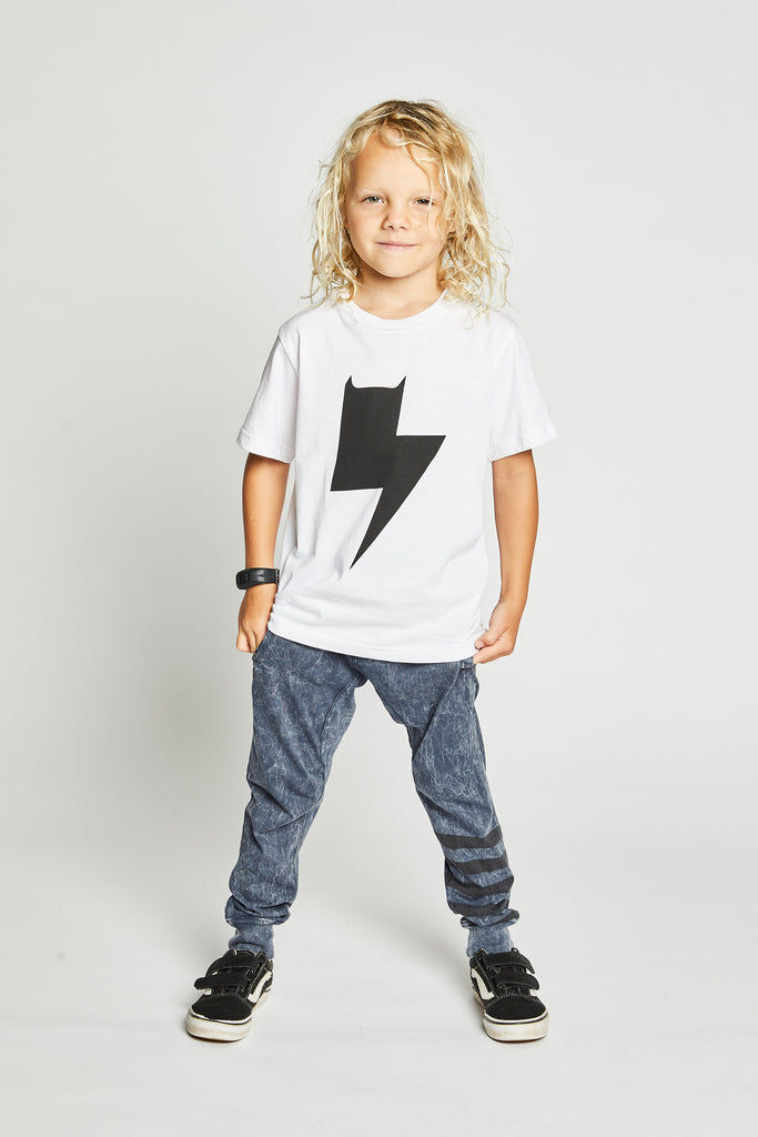 Munster kids t-shirt zap white