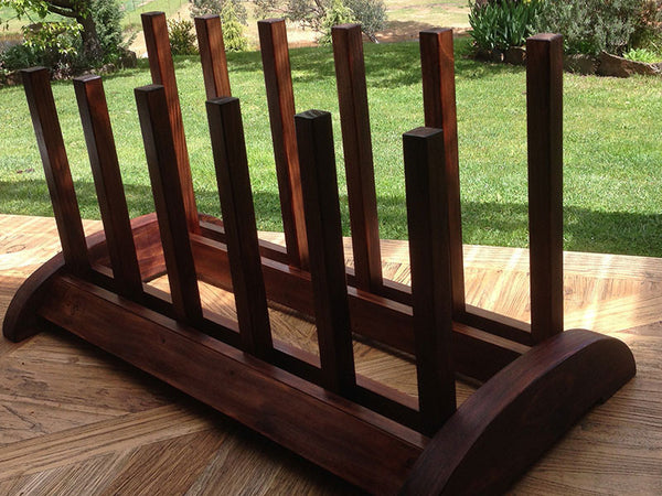 Beautifully crafted timber boot rack