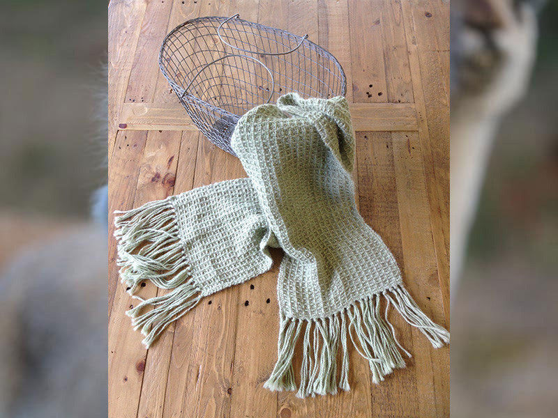 Lace handwoven scarf - Fern