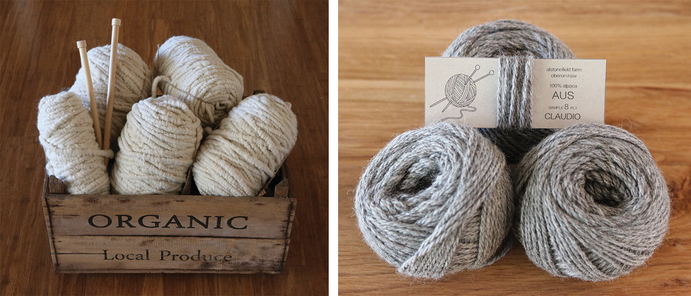 Alstonefield Farm alpaca yarn
