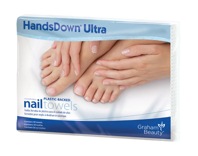 Graham Handsdown Ultra Poly-backed Nail Care Table Towels