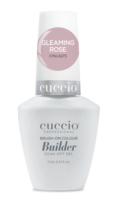 Cuccio Brush-on-Color Builder in a Bottle - Gleaming Rose