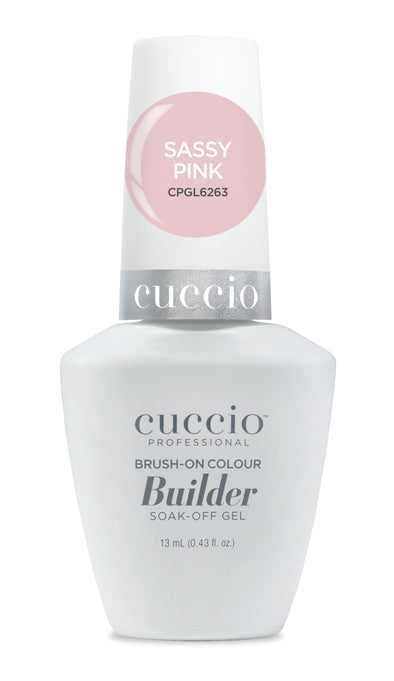 Cuccio Brush-on-Color Builder in a Bottle - Sassy Pink