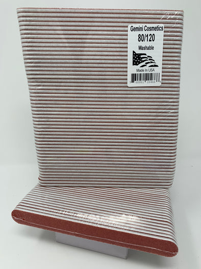 80/120 red/peach mylar file 50 pack