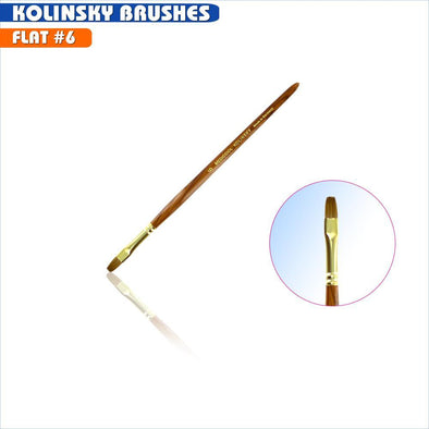#6 Flat Kolinsky Brush