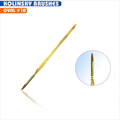 #10 Oval Kolinsky Brush
