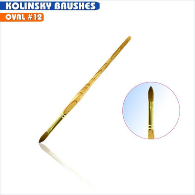 #12 Oval Kolinsky Brush
