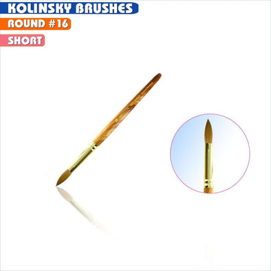 #16  Oval Kolinsky Brush