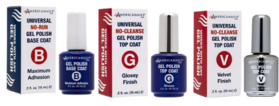 Americanail Base, Top, Matte Gel Trio