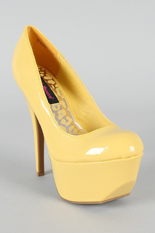 Dollhouse Delicious Patent Platform Pump