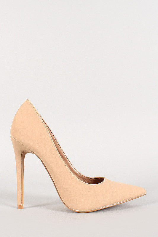 Shoe Republic Nubuck Pointy Toe Stiletto Pump