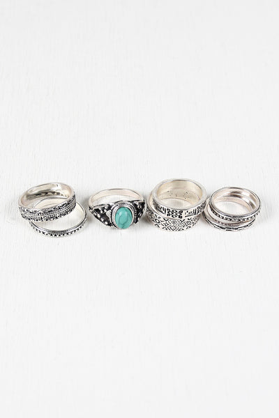 Tribal Patterns Ring Set