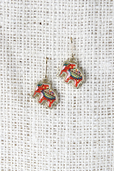 Festive Elephant Earrings