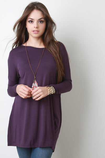 Boxy Long Sleeve Mini Dress