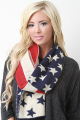 Old Glory Braid Stitch Scarf