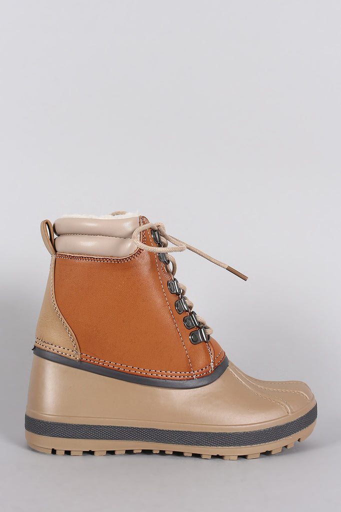 Bamboo Ridge Lace Up Duck Booties