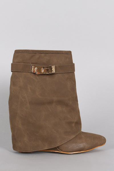 Twist-Lock Fold Down Shaft Wedge Booties