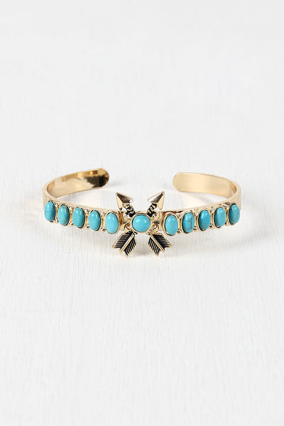 Crossed Arrows Turquoise Bracelet