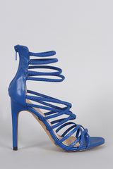 Liliana Open Toe Strappy Stiletto Heel