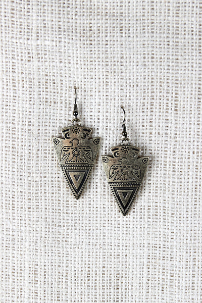 Etched Arrowhead Earrings