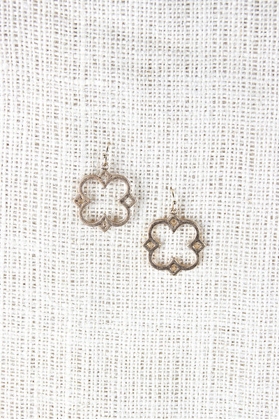 Quatrefoil Frame Earrings