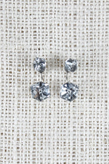 Crystal Cube Jacket Earrings