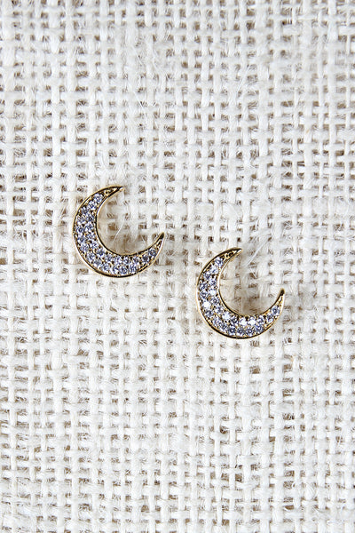 Glittering Moon Earrings