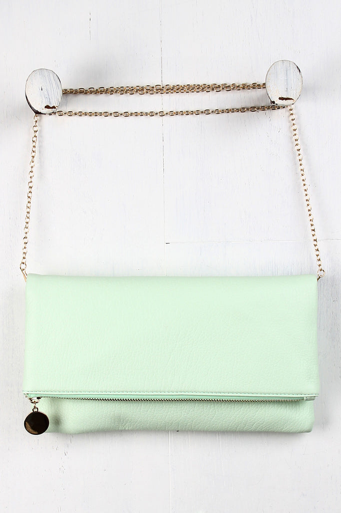 Detachable Chain Flap Clutch Bag