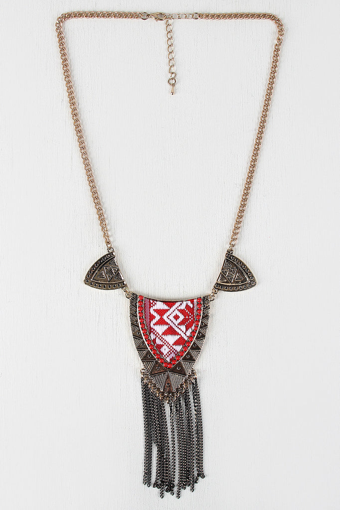 Tribal Shield Pendant Necklace