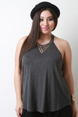 Simple Jersey Knit Racer Back Top