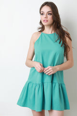Relaxed Mini Halter Neck Dress
