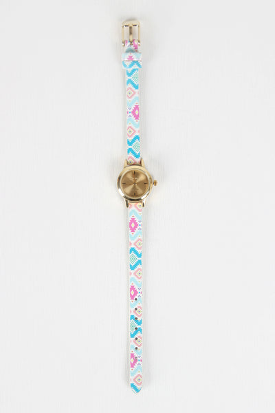 Aztec Pattern Skinny Watch