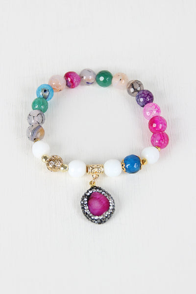 Multicolor Stones Beaded Sweetness Bracelet