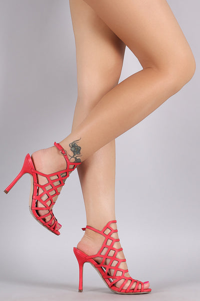 Breckelle Honeycomb Open Toe Heel