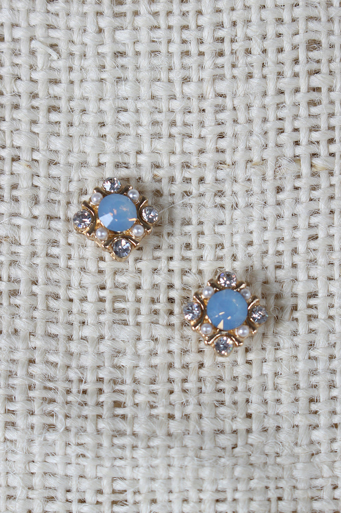 Square Cluster Stud Earrings