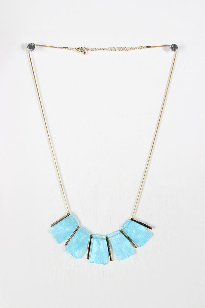 Statement Gemstone And Rod Necklace